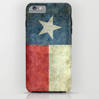 Texas state flag, Vertical retro vintage version iPhone & iPod Case by BruceStanfieldArtist America
