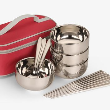 Hot Sale Stainless Steel Bowl Set,Tableware Thermos for Lunch Soup,Lunch Box Tigela,Noodle Soup Fruit Rice Salad Food Container