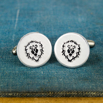 Alliance Cuff Links - Video Game Gift - Warcraft - Aluminum Cuff Links
