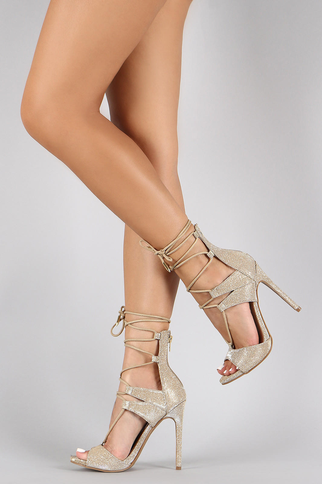 4a401a58f4 Shoe Republic LA Metallic Corset Lace Up from rootofstyle