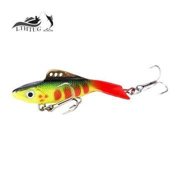 DCCK1IN new 2017 vantage balance vib ice fishing lure wobber pesca artificial bait 57mm 12g lead fish soft fish red tail treble hook