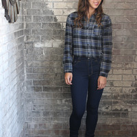 Fall Flannel Crop Top