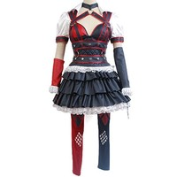 CosplaySky Batman: Arkham Knight Harley Quinn Dress Halloween Costume