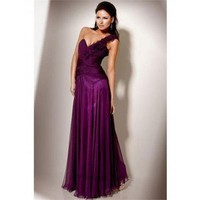 A-Line One-Shoulder Floor-Length Chiffon Prom Dress SAL0932