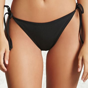 Ribbed String Bikini Bottoms