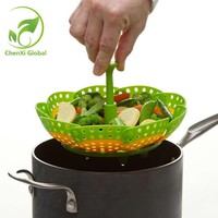 Multifunctional Stackable Design Nylon And Silicone Steamer Folding Fruit Bowl Steaming Rack Steamer Cookware Kitchen Tools