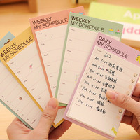 Pop Cartoon Plan Schedule Check Stick Sticky Notes Bookmark Pads 3C2