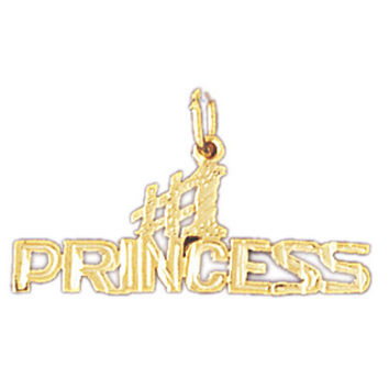 14K GOLD SAYING CHARM - #1 PRINCESS #10407