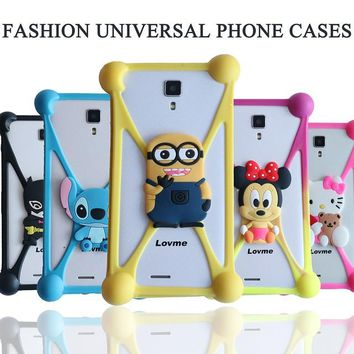Hello Kitty Stitch Minnie Minions Sully Silicone Case For Micromax Bolt D305 MTC Smart Sprint Mlais M7 MegaFon Login Plus cover