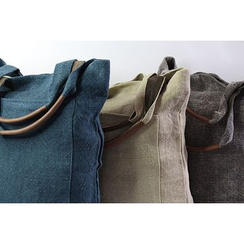 Roost - Washed Linen - Tall Tote Bag