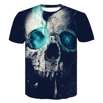 Hip hop 3D skull T Shirt Men  Punisher Funny tshirt Quick drying Fitness Tee Slim Fit Tops