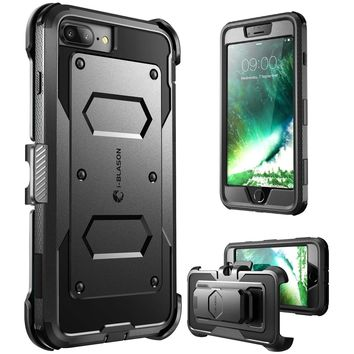 iPhone 7 Plus Case, iPhone 8 Plus Case [Armorbox] i-Blason Built In [Screen Protector] [Full body] [Heavy Duty Protection ] Shock Reduction / Bumper Case for Apple iPhone 7 Plus/iPhone 8 Plus