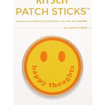 Smiley Face Patch Stick