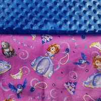 Personalized Sofia the First Blanket, Sofia the First, Minky Blanket, Disney Blanket, Toddler Bedding