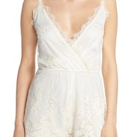 Band of Gypsies Embroidered Mesh Romper | Nordstrom