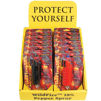 12 - WildFire Pepper Spray Mixed with Counter Display