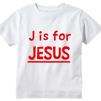 J is for Jesus toddler tshirt. Christian kid shirt. Jesus toddler shirt. Kid faith based tee. Christian toddler tee. Toddler Christmas gifts