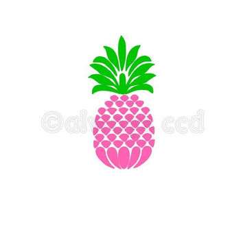 Preppy 2 color Pineapple vinyl decal