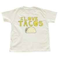 I LOVE TACOS Design on Toddlers or Childrens ORGANIC Natural T-Shirt
