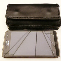Black cco leather android phone case