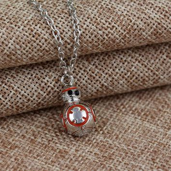 BB-8 Droid Pendent Chain Link Necklace