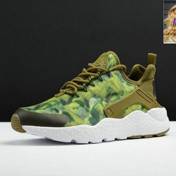 Fashion Nike Air Huarache Run Ultra KJCRD Print Camo White sneaker