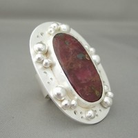 Ruby Ring – Raw Ruby and Sterling Silver Cocktail Ring | The Silver Forge Handcrafted Jewellery