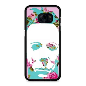 Floral Michael Myers Pop Art Samsung Galaxy S7 Edge Case