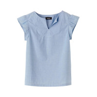 Lightweight Faulkner top - BLUE GREY  - A.P.C. WOMEN
