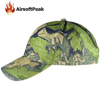 Tactical Camo Baseball Caps Camouflage Hip-hop Polo Hats Hiking Cycling Military Sunsh