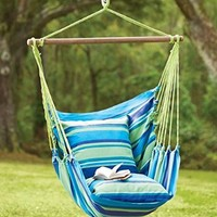 Blue Striped Cotton Hammock Chair Swing:Amazon:Patio, Lawn & Garden