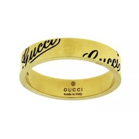 ONETOW GUCCI 18K GOLD THIN RING