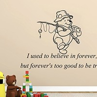 Wall Decals Quotes Vinyl Sticker Decal Quote Winnie the Pooh I used to believe in forever Nursery Baby Room Kids Boys Girls Home Decor Bedroom Art Design Interior NS863