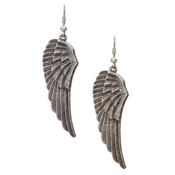 Dark Gray Wing Through Earrings