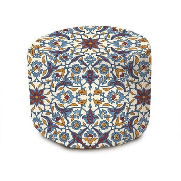 French Bohemian Pouffe