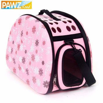 Storage Folding Pet Bags Foldable Pet Carrier Small Dog Carrier Bag Cat Fanshional Design Externide Bag Cat Pack Dog