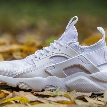 DCCKIG3 Nike Air Huarache 4 ALL WHITE Men and Women running shoes 36-46