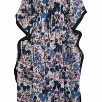 Mogul Interior Women's Maxi Caftan Blue Printed V-Neckline Beach Cover Up One Size: Amazon.ca: Clothing & Accessories