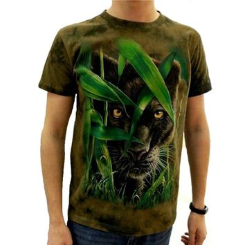 2017 3d T-shirt brand Animal Printed Cool men Tie Dye T Shirt 100% Cotton Short Sleeve fitness Hip Hop O-Neck Tee-shirt homme