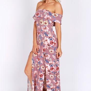 Off The Shoulder Floral Maxi Floral