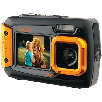 Coleman 20.0 Megapixel Duo2 Dual-screen Waterproof Digital Camera (orange)