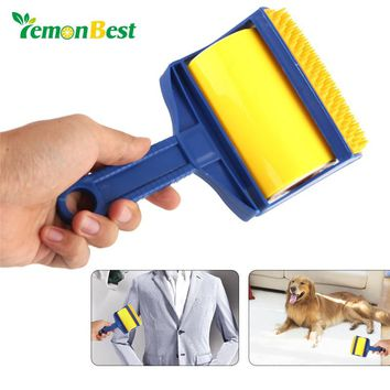 Reusable Roller Brush Sticky Cleaner Clothes Carpet Hair Lint Remover