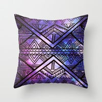 Ancient Galaxy Throw Pillow by Erin Jordan