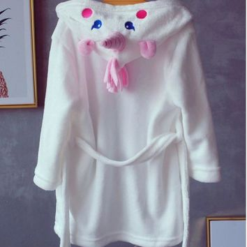 Bathrobes for Girls Unicorn Nightgown Baby Boys Velvet Robes Towel Kids Cartoon Pajamas Children  Bath Robe NightgownKawaii Pokemon go  AT_89_9