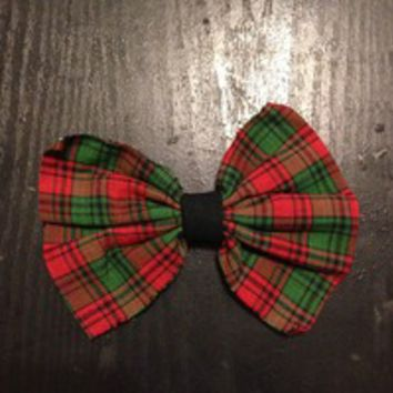 Christmas plaid hair bow from Nicole Ray
