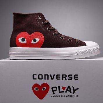 qiyif Converse Comme Des Garcons Suede Chuck Taylor All Star  Brown/White  High Cut