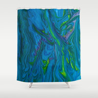 Oceans of Color Shower Curtain by Scott Hervieux