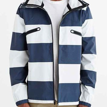 ourCaste Saul Salt Striped Jacket- Navy