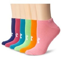 Under Armour Girl's Neon No Show Socks