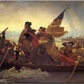 Crossing the Delaware - George Washington by Leutz Wall Picture on Stretched Canvas Decor
